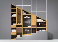 cubus hard wood shelf with flexible divider