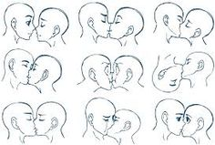 Image result for couple about to kiss drawing