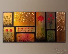 Joyful Garden - Abstract Art Painting by Carmen Guedez Art Painting Images, Abstract Art Images, Abstract Flower Art, Flower Painting Canvas, Painting Gallery, Art Floral, Canvas Wall Art, Abstract Paintings, Art Paintings