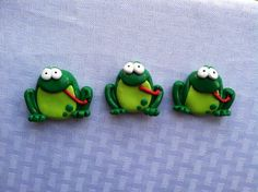 Hand Sculpted Polymer Clay Frog Heavy Duty by TheLeeLeeJShopClay