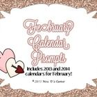 2013 and 2014 writing prompt calendars, 4 versions! $
