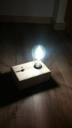 Led lamp with switch