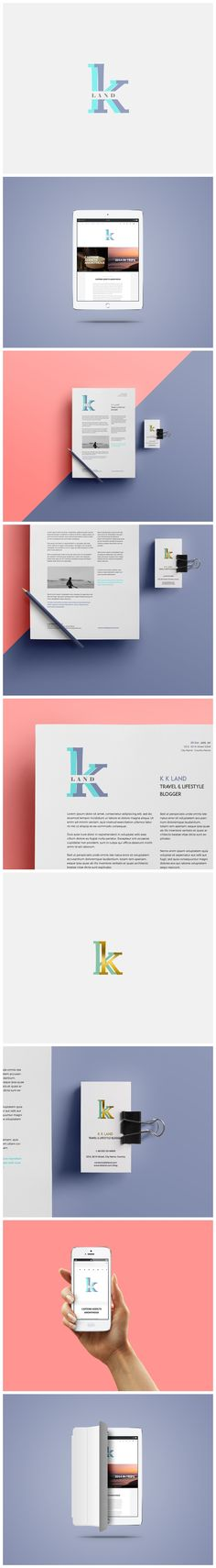 KK Land - website and #stationery design for a lifestyle blogger