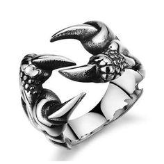 Steel Jewelry, Jewelry Rings, Jewelry Accessories, Fashion Accessories, Jewelry Watches, Gothic Jewelry, Silver Jewelry, Silver Rings, Punk Jewelry
