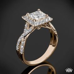 Verragio Square Halo Diamond Engagement Ring from the Verragio Couture Collection.