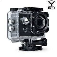 Topgeek Wifi Waterproof Action Camera 2.0Inch Fhd 1080P Sports Camera With Rechargable Battery And Free Accessories