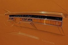 Cadillac instrument panel - Prismacolor on Canson paper. Car Sketch, Reference Images, Prismacolor, Buick, Concept Cars, Cadillac, Craftsman, Fisher, Image Search