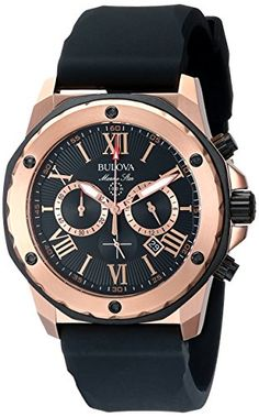 Bulova Men's Marine Star Calendar Stainless Steel Dress Watch