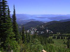 Lake Pend Oreille Sandpoint Idaho.  Schweitzer Mountain.  Our local ski resort with amazing views.