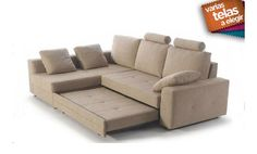 Sofa cama dos plazas mas chaise longue izquierda. Colores a elegir