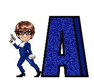 Alfabeto de Austin Powers.