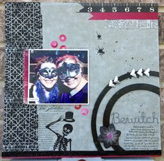 bewitched - #Halloween Scrapbooking ideas using #Stampendous new images from April Derrick.