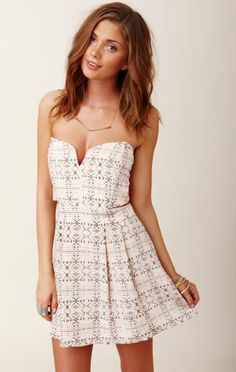 Myne Chandler Strapless Dress