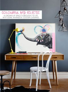 Styling Office Space with Desk and Chair - Colourful and Eclectic
