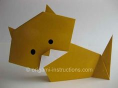 origami cat, How to Make an Origami Cat, Step by Step Origami Animal DIY Crafts instruction #wonderweirdedcrafts