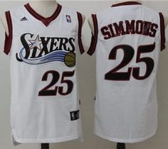 873452e93fc 76ers #25 Ben Simmons White Throwback Stitched NBA Jersey Basketball Jersey,  Adidas Nba Jersey