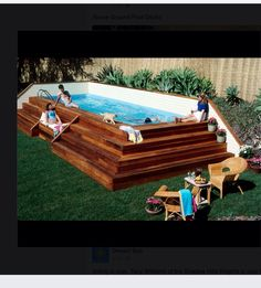 I would looooove to have this...dresses up a plain old above ground pool