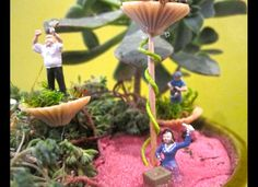 Button gardens! These miniature scenes are incredible.