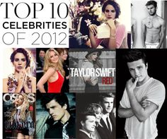 """""""top celebrities 2012"""" by miyutrue ❤ liked on Polyvore"""