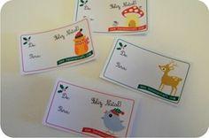 Print at home - tags de natal para imprimir em casa