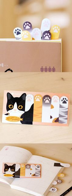 Check out this cute and unique set of Kitty Paw Index Sticky Note! You can use the Kitty Paw Index Sticky Note to jot down notes and stick it anywhere you want! You can also use it as a bookmark too!