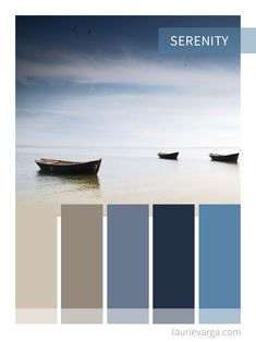 Colour Palette Serenity, Beige and Blue