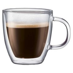 Bodum Bistro Double Wall Glass Espresso Mug % off promo code - Set of 2 (5 oz) - (cups cupboard) - in stock