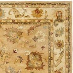 Handmade Zeigler Taupe/ Ivory Hand-spun Wool Rug (9'6 x 13'6)