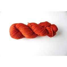 Orange Yarn Sweetgeorgia Yarns Merino wool, Cayenne (orange) colour... (€20) ❤ liked on Polyvore featuring accessories