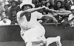 At the beginning of the 19th century, late French tennis player Suzanne Lenglen impressed audiences with her white dress and hat