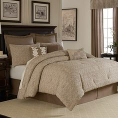 Royal Heritage Home™ Sonoma Quilted Comforter Set, 100% Cotton - Camel - Bed Bath & Beyond - possible new comforter?