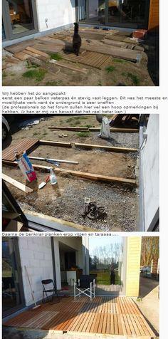 terras maken van paletten!