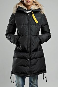 Parajumpers Long Bear Coat Black Women