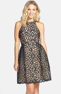 ML Monique Lhuillier Bridesmaids Lace Fit & Flare Dress available at #Nordstrom