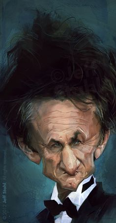 "CARICATURAS DE FAMOSOS: ""Sean Penn"" por Jeff Stahl"