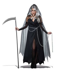 2018 California Costumes Women's Plus-Size Lady Reaper Scary Ghost Demon Costume and more Scary Costumes for Women, Women's Halloween Costumes for Great Costume Ideas, Great Halloween Costumes, Scary Halloween Costumes, Adult Costumes, Halloween Ideas, Women Halloween, Halloween Stuff, Halloween Office, Halloween Couples