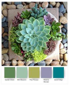 Colour Combo Ideas for Paper Succulents – addinktive designs