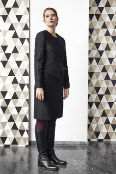 Short tailored jacket in combination with our little black dress.