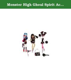 Monster High Ghoul Spirit Action Figure Doll 3Pack Draculaura, Cleo de Nile Ghoulia Yelps. Freaky just got fabulous with this great Monster High Ghoul Spirit 3 Doll Pack. The ghouls show their school spirits. Draculaura and Cleo De Nile are ready to cheer in their fearleading uniforms. With a set of poms poms and a Skullete megaphone, they will have the crowd roaring literally. Ghoulia Yelps will do her part, wearing a sporty outfit in the teams colours, pink and black, and waving her…