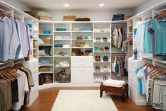 Simply elegant closet, HomeORG.com.