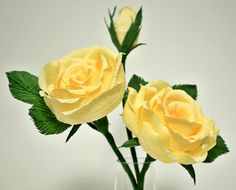 Hand made yellow roses. The Flower and Craft Boutique. Contact me for more details.