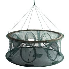 7 Holes 70X30cm Foldable Fishing Trap Cast Net Crab Fish Shrimp Cage Specifications: Color: Green Weight: 800 g (Approx.) Size: 70 x 30 cm(Diameter x Height) Features: Fish/crawfish trap net. Easy to