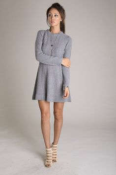 Simply Smitten Sweater Dress - Grey – Daily Chic