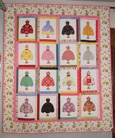Cabbage Rose Dresses Quilt   Flickr - Photo Sharing!