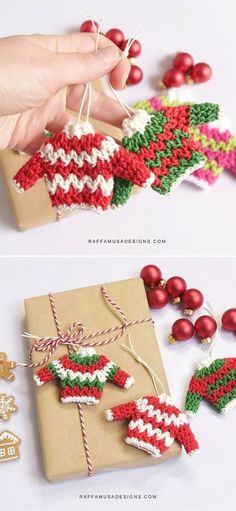 Crochet Christmas Decorations, Holiday Crochet, Crochet Gifts, Free Crochet, Free Christmas Crochet Patterns, Crochet Christmas Trees, Ornament Crafts, Yarn Crafts, Christmas Sweaters