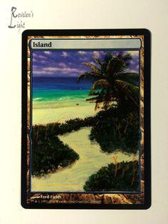 Island - Full Art - MTG Alter - Revelen's Light Altered Art Magic Card