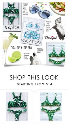 """""""WIN $20 CASH FROM ROSEGAL!"""" by larissa-takahassi ❤ liked on Polyvore featuring Pinko, Martha Stewart, Garance Doré, Summer, cocktail, bikinis, TropicalVacation and rosegal"""