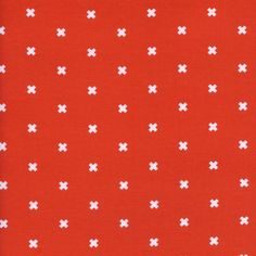 Cotton + Steel Basics - XOXO (Clementine) : Crimson Tate :: Modern Quilter