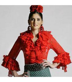 Blusa Coral encaje - faldas y blusas flamencas - Roal