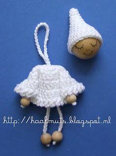 Horgolt Hat: Karácsonyi angyal / Little Red Riding Hood minta